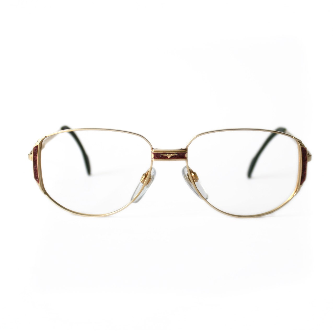 Gold Color Eyeglass Frames : LONGINES Vintage Eyeglasses METZLER gold color by ...