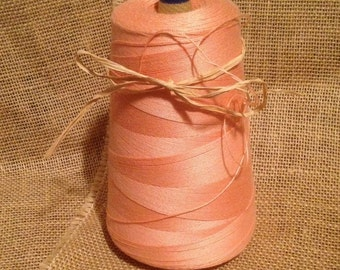 Vintage Lily brand Light Coral Peach Sewing Thread Cone