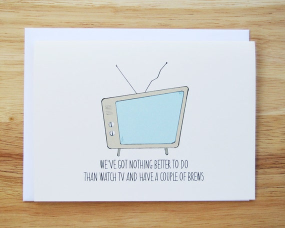 Black Flag, TV Party Hand Drawn Greeting Card