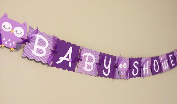 owl baby shower banner baby shower banner purple damask owl