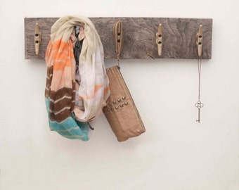 Reclaimed Wood Boat Cleat Coat Rack