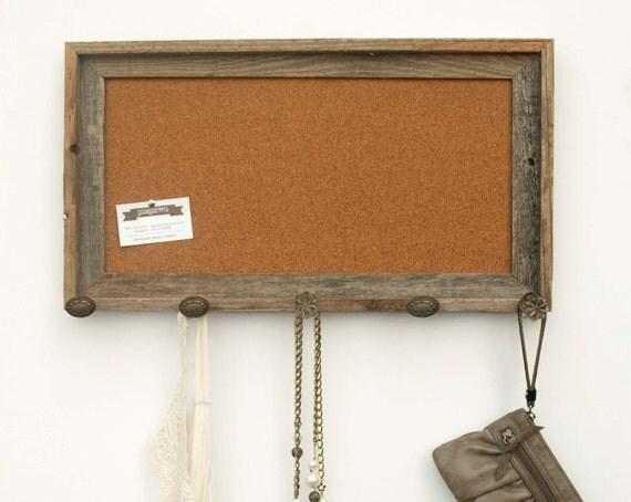 Barnwood Cork Bulletin Board with Brown Knobs (20 x 10)