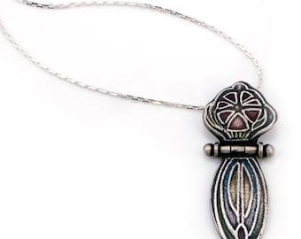 Sterling Silver Flower Necklace | Art Nouveau Jewelry | Unique Gifts