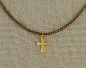 Maltese Cross Necklace Gold Simple Delicate