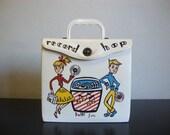 Sweet 50s Vintage 45 Case Bobbi Sox Jukebox Record Hop Vinyl Record Tote Box DJ Record Collector Retro Home Decor Super Cute Bright Fun CBF