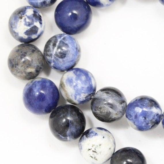 Sodalite Beads (Grade B) - 10mm Round - Full Strand