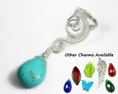 Woven Swirly Silver Ear Cuff With Charm of your Choice