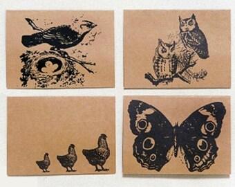 Woodland Animals - set of 8 note cards