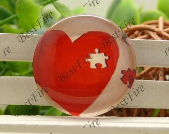 12mm,14mm,16mm,18mm,20mm,25mm Round heart Photo Glass Cabochons, jewelry Cabochons finding beads,Photo Glass Cabochons