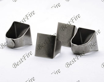 200pcs Antique Silver Pad Open Adjustable RING square Base Cabochon Size:19x20mm,Ring base beads,blank Cabochon base,ring findings