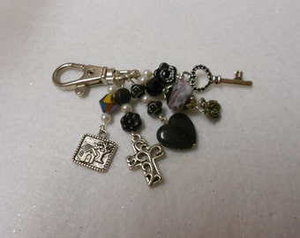 Horse Bridle Jewelry, Purse Charm, Key Ring Clip, Horse Bridle Charm