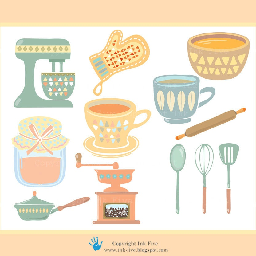 Clip Art Kitchen Digital Images For Instant Download Cute