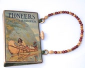 Book Clutch made from The Pioneers, Last of the Mohicans  Book Purse