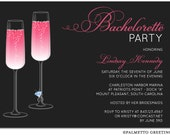 PRINTABLE - Bachelorette Party Invitation / Engagement / Girls Night Out / Hens Party (Champagne Celebration)