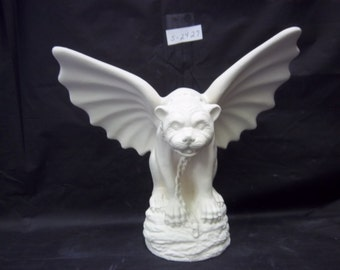 Ready to paint Ceramic-Small gargoyle S 2427 ceamic bisque u paint