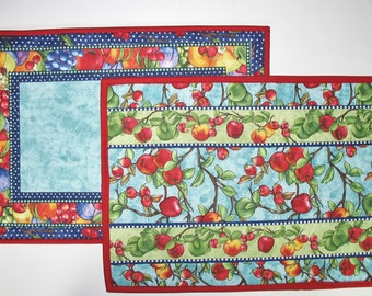 Fruit Place Mats Reversible Set of 4  fabric from South Sea Imports Summer Preserves line