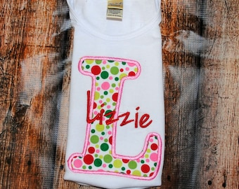 Personalized Initial Shirt or Bodysuit