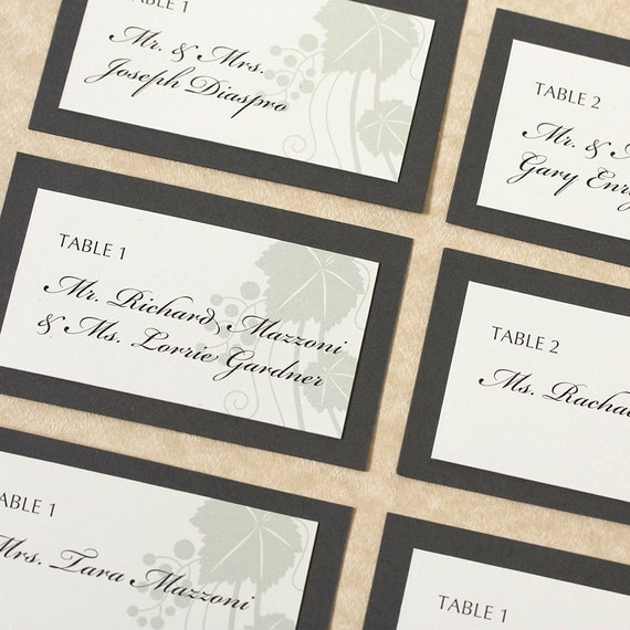 vine place cards wedding