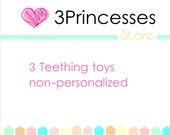 Teethe teething toy baby toys wood toys 3 pack deal