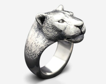 Sterling Silver Leopard Ring