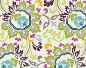 PARADISE - Ivory Double Bloom (Pa-306) - Art Gallery Fabric - Pat Bravo - 1 yard