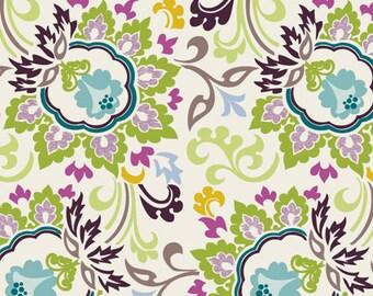 PARADISE - Ivory Double Bloom (Pa-306) - Art Gallery Fabric - Pat Bravo - 1 yard