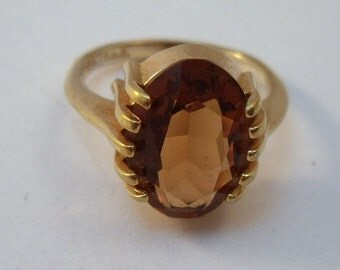 Topaz ring with gold filled band size 6.75