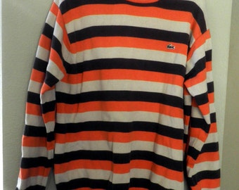 vintage LACOSTE Bold Stripe SWEATER, cotton