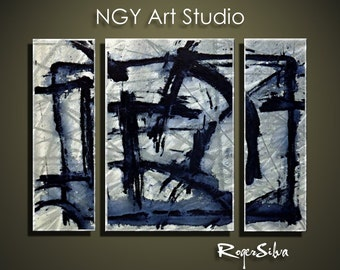 """NGY 23.5"""" x 34"""" Modern Contemporary Abstract Metal Wall Sculpture Art"""