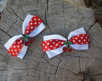 Olivia Paige -Pin up rockabilly  cherries  shoe Clips