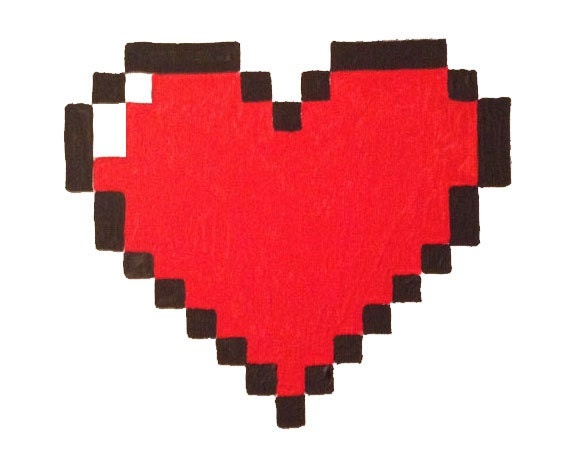 Heart decoration pixel 8 bit painting valentines day art geek for 8 bit decoration