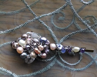 Woodland Fairy Hair Adornments - lovely wire-wrapped beaded hair pins