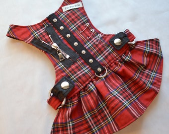 Dog Harness - Hot for Teacher Harness Dress in Red