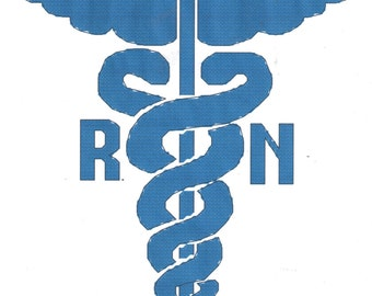 Registered Nurse Logo counted Cross Stitch Pattern