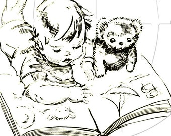 Personalized ADHESIVE Bookplate -Me And My Teddy - Peel & Place Bookplates - Lovely Gift