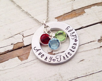 Hand stamped Mommy Necklace Mother's Day Mom Pendant Grandma Gift Abuela jewelry Nana Granny yiayia Christmas Stocking Stuffer Abuelita Gram