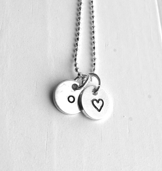 Tiny letter o necklace sterling silver initial necklace like this item aloadofball Choice Image
