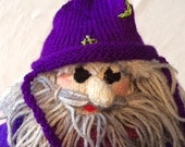 RESERVED. The Purple Wizard: beautiful knitted doll