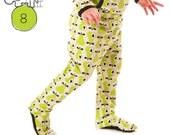 Newborn pants pattern, footed leggings pdf //  Preemie to 3T  Instant download -Pattern 8