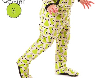 Footie leggings pattern // pdf download //  Preemie to 3T //  Instant download // #8