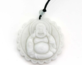 Lace Fortune Buddha God Natural Stone Amulet Talisman Pendant One Piece 40mm x 40mm  TH244