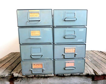 Vintage Industrial Drawer Cabinet -  sold individually