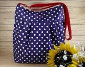 Crossbody Bag Diaper Bag Messenger Polkadots Shoulder Bag School Bag Travel Bag market Bag Handbag