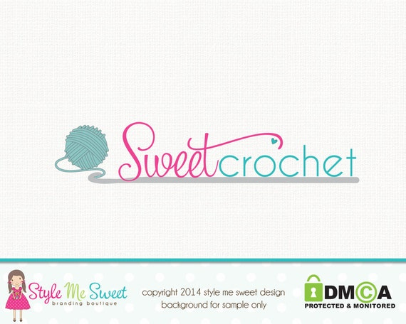 Crochet Logo Design Yarn Logo Design Graphic Design Premade Logo ...