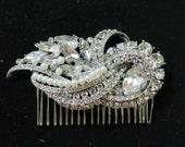 Wedding hair comb,Bridal Hair Comb,Rhinestone Bridal Hair Comb, Weddings Jewelry, Silver, Rinestone, Bridal Headpiece,