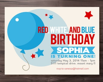 4th of july printable party invite