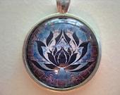 Yoga Necklace:  Lotus on Mandala Necklace (014)