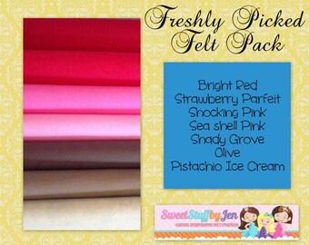 "Wool Felt Bundle-Freshly Picked-9x12"" Sheets Wool Felt-Craft Felt-Wholesale-Wool Blend Merino Felt"