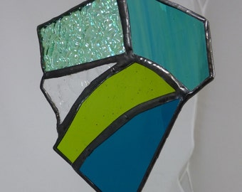 Stained glass Blue and Green Suncatcher