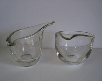Danish Modern VIPSTJERT Cream and Sugar Set by Holmegaard designed by Per Lutken
